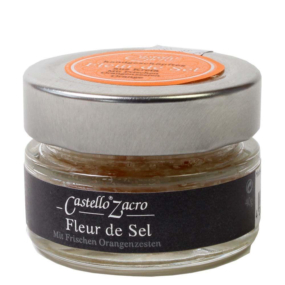 Castello Zacra Fleur de Sel mit frischen Orangenzesten -  - Chocolats-De-Luxe