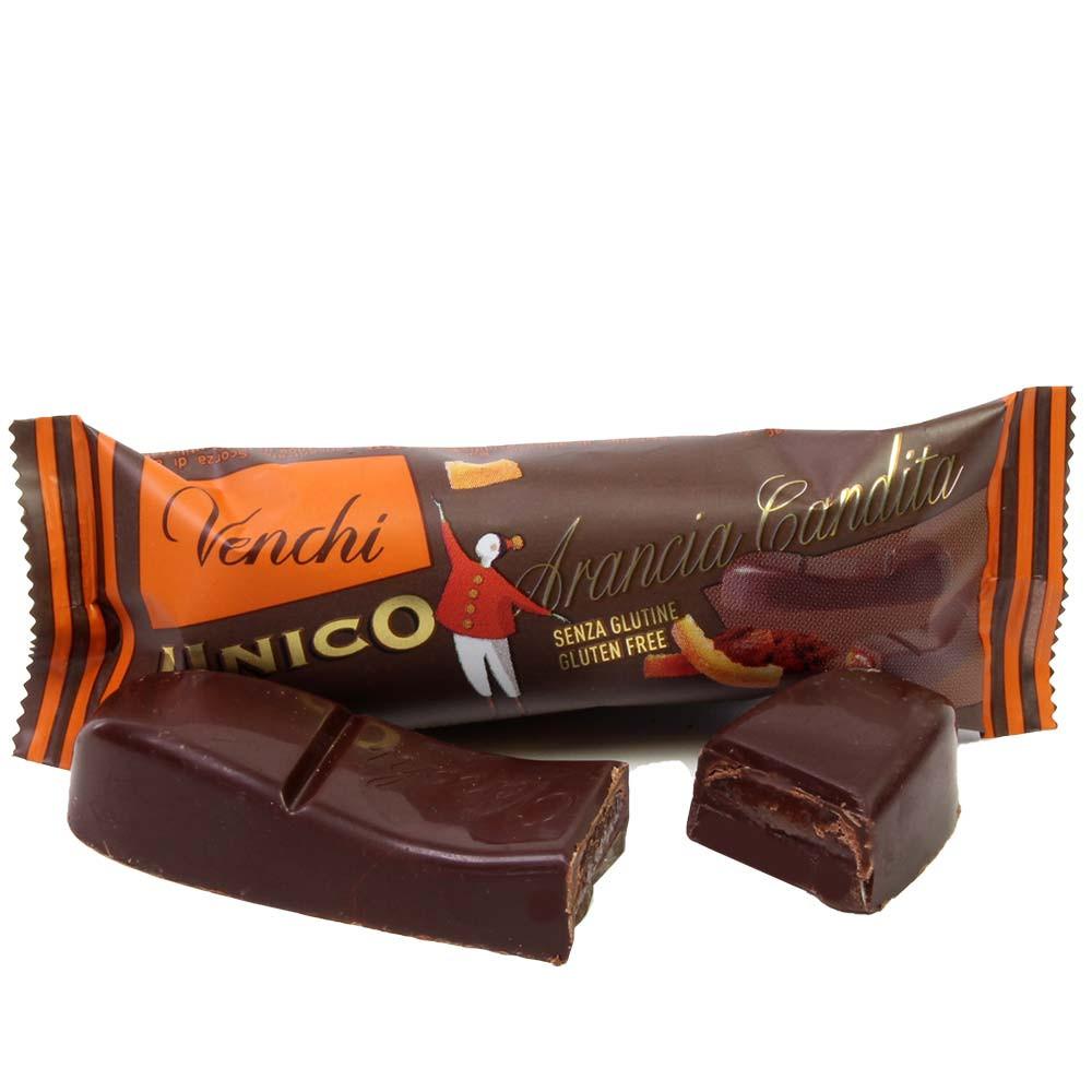 56% barra de chocolate Unico Orange - Barras, chocolate sin gluten, Italia, chocolate italiano, chocolate con naranja - Chocolats-De-Luxe