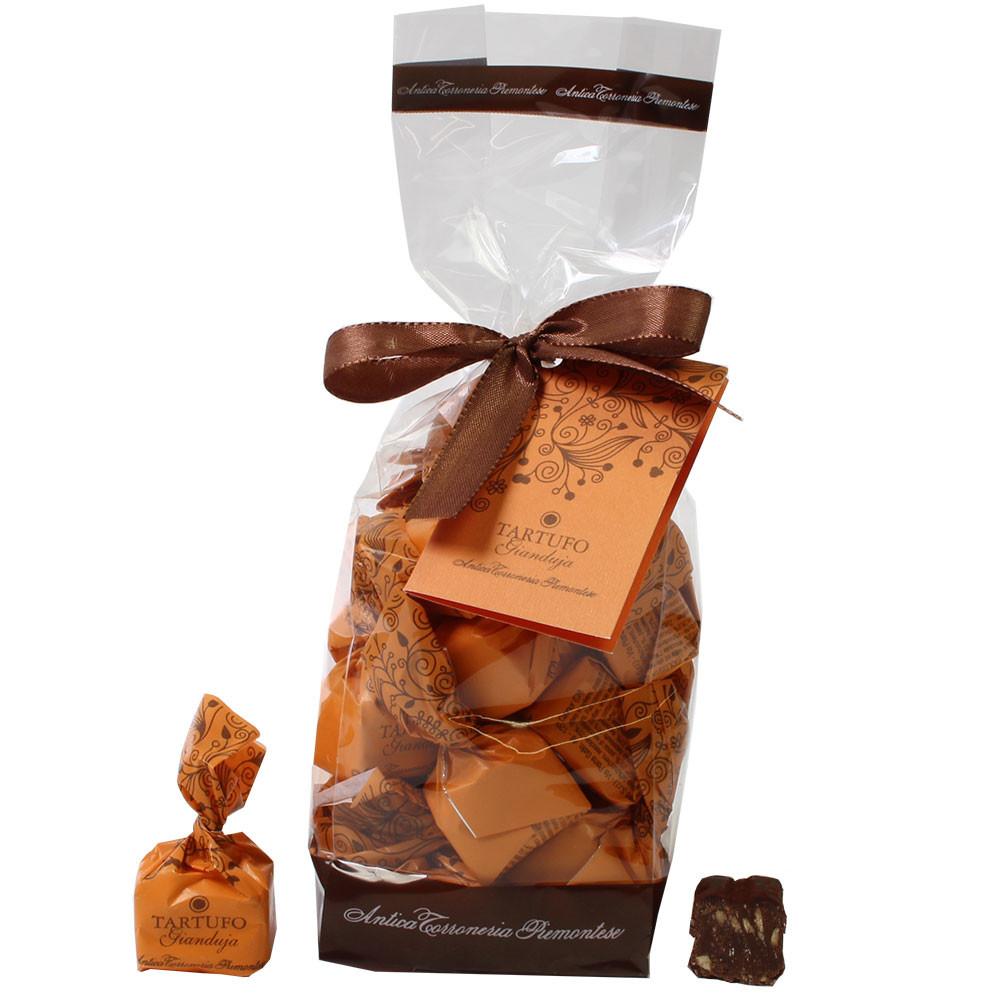 Tartufo Gianduja bustina - Tartufo nocciola chiaro con torrone - Tartufo, Cioccolato senza alcol, cioccolato senza glutine, Italia, cioccolato italiano, Cioccolato con torrone, Cioccolato con gianduja - Chocolats-De-Luxe