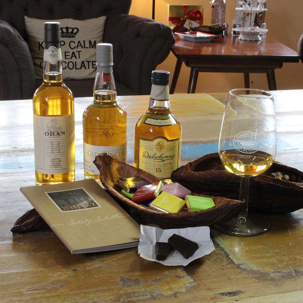 Whisky Schokolade Trinken Geniessen Event Tasting Geniesser Abend dark chocolate chocolat noir
