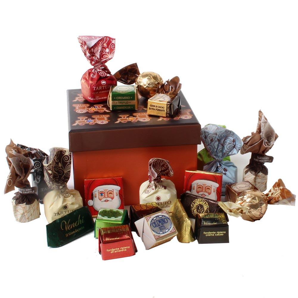 Caja de regalo de navidad pan de jengibre -  - Chocolats-De-Luxe