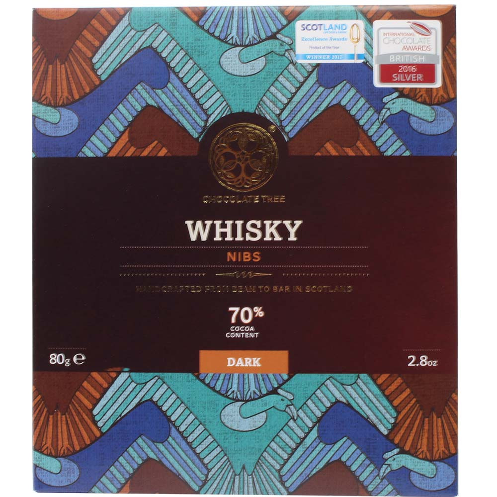 Nibs de whisky 70% - Zartbitterschokolade