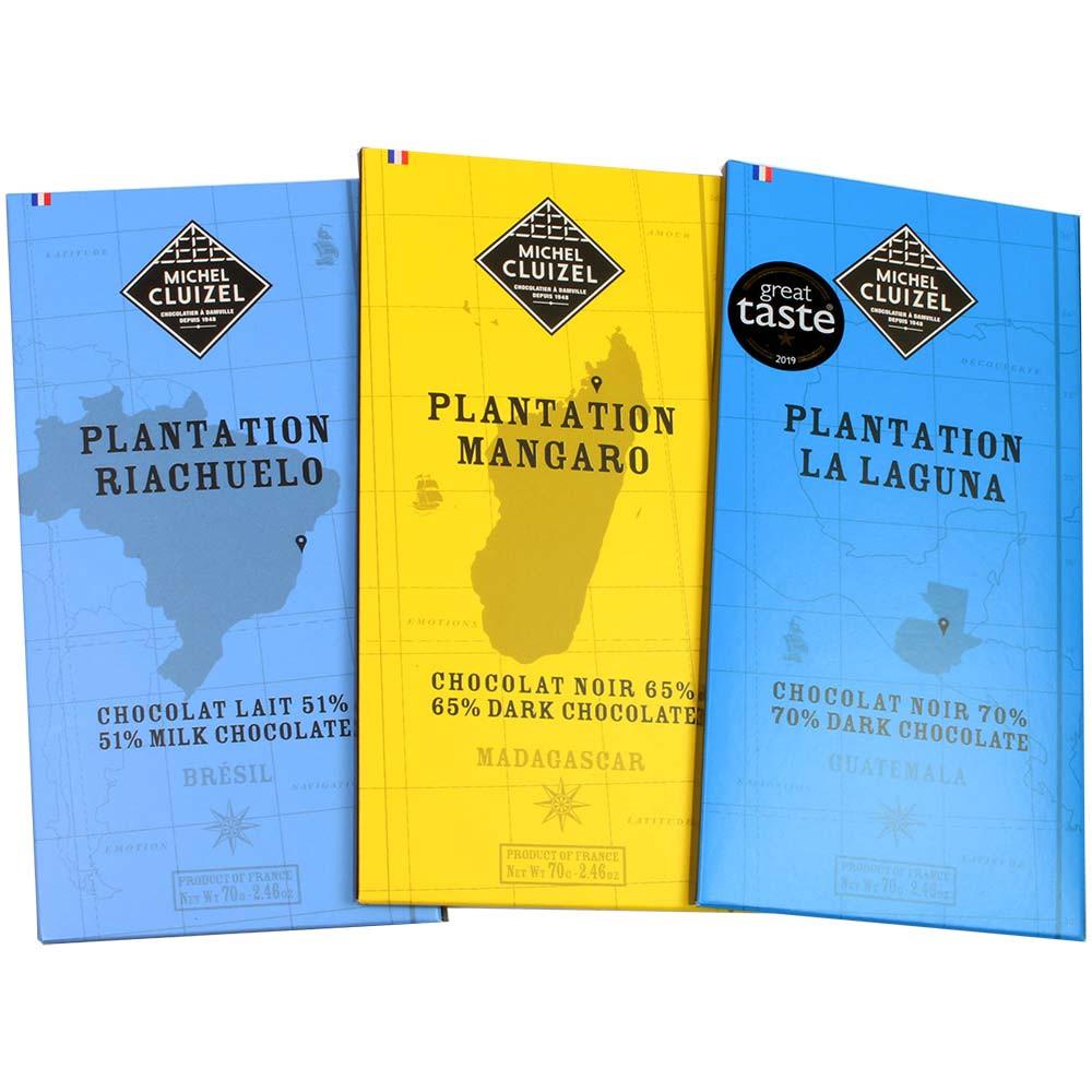 Paquete de 3 degustaciones de chocolate de Cluizel - para el festival del chocolate -  - Chocolats-De-Luxe