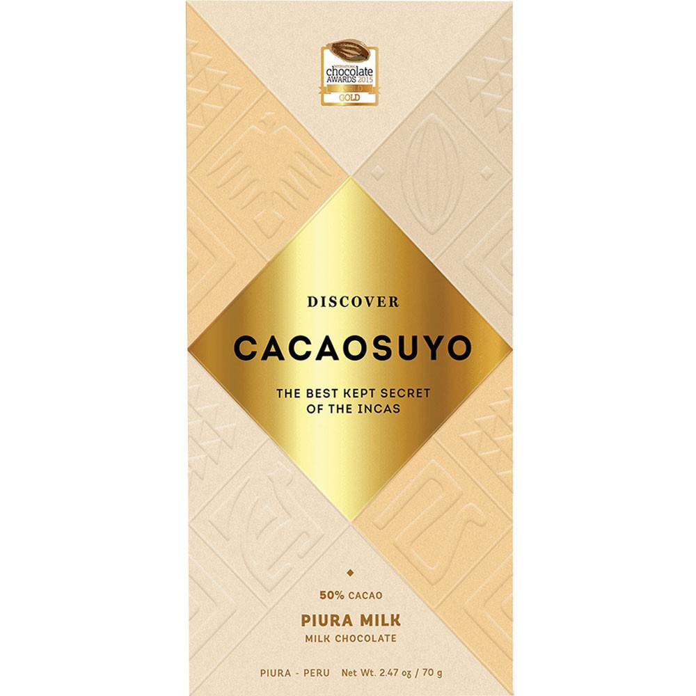 """""""Piura Milk"""" 50% melkchocolade gemaakt van witte Piura cacaobonen - Chocoladerepen, Peru, Peruaanse chocolade, chocolade met melk, melkchocolade - Chocolats-De-Luxe"""