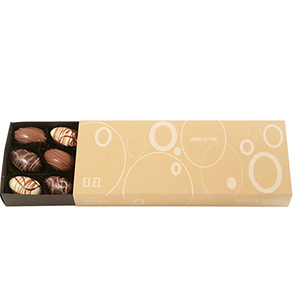 Pralinen Edition Ei Ei - Bombones, Huevos de Pascua de chocolate, sin gluten, Austria, chocolate austriaco, Chocolate con almendras - Chocolats-De-Luxe