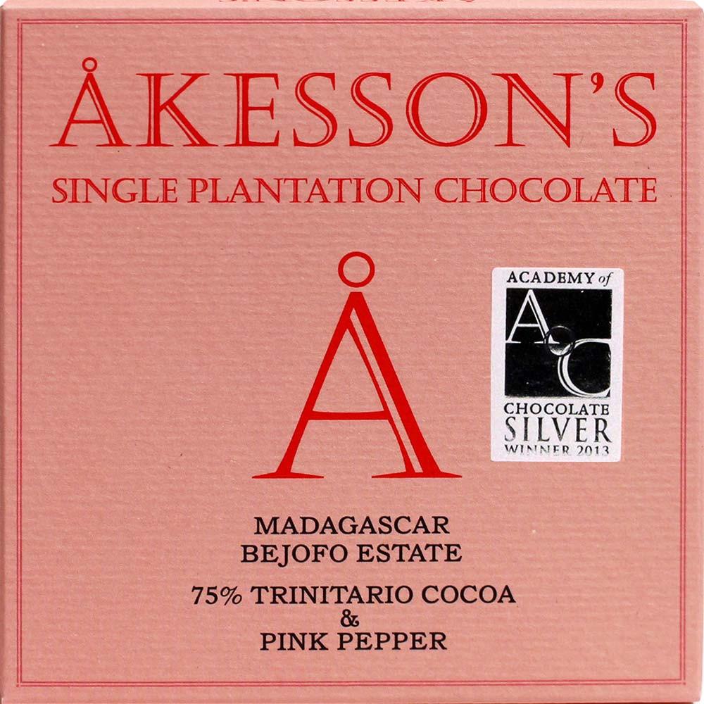 Schokolade mit Pfeffer, Dunkle Bio-Schokolade, zartbitter, chocolat noir d'origine, Single Origin, dark chocolate, Herkunftsschokolade,