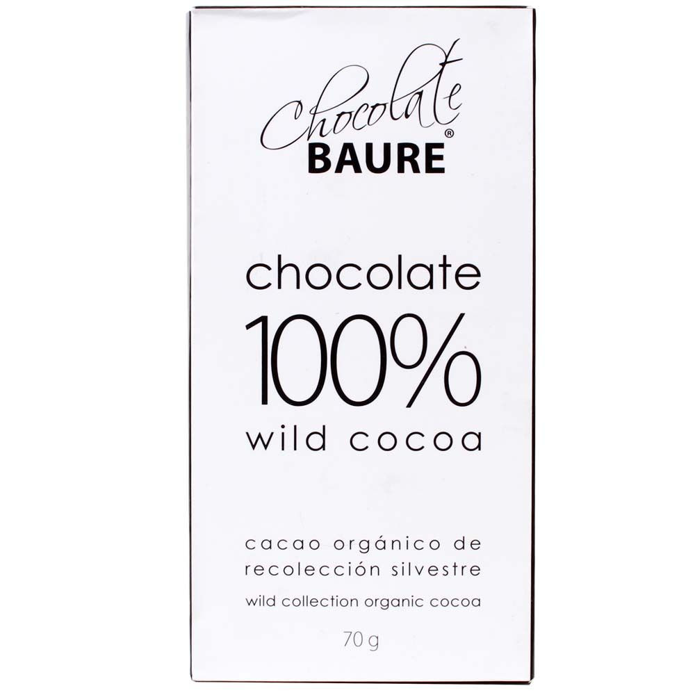 100% wild cacao chocolate