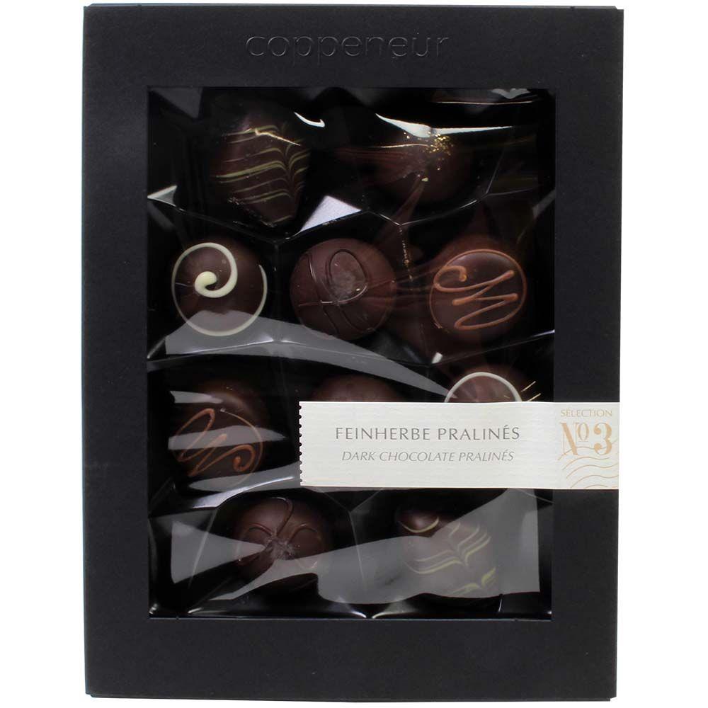 Fijnzure pralines nr. 3 in pure chocolade