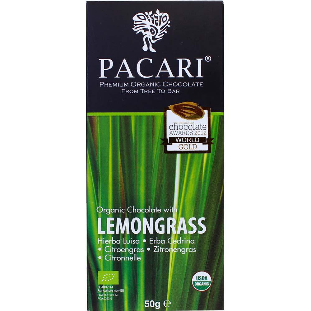 Lemongrass 60% organic chocolate Hierba Luisa