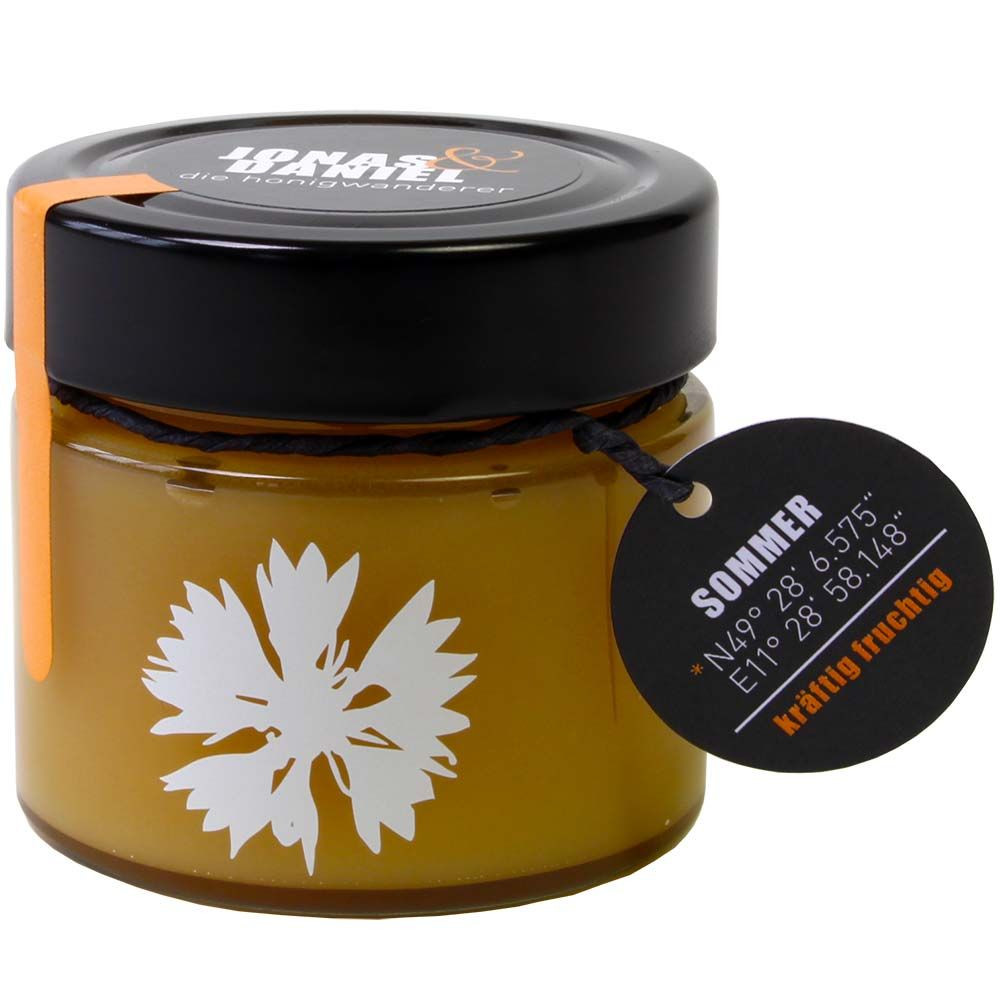 Die Honigwanderer Sommerhonig Bio 250g Glas -  - Chocolats-De-Luxe