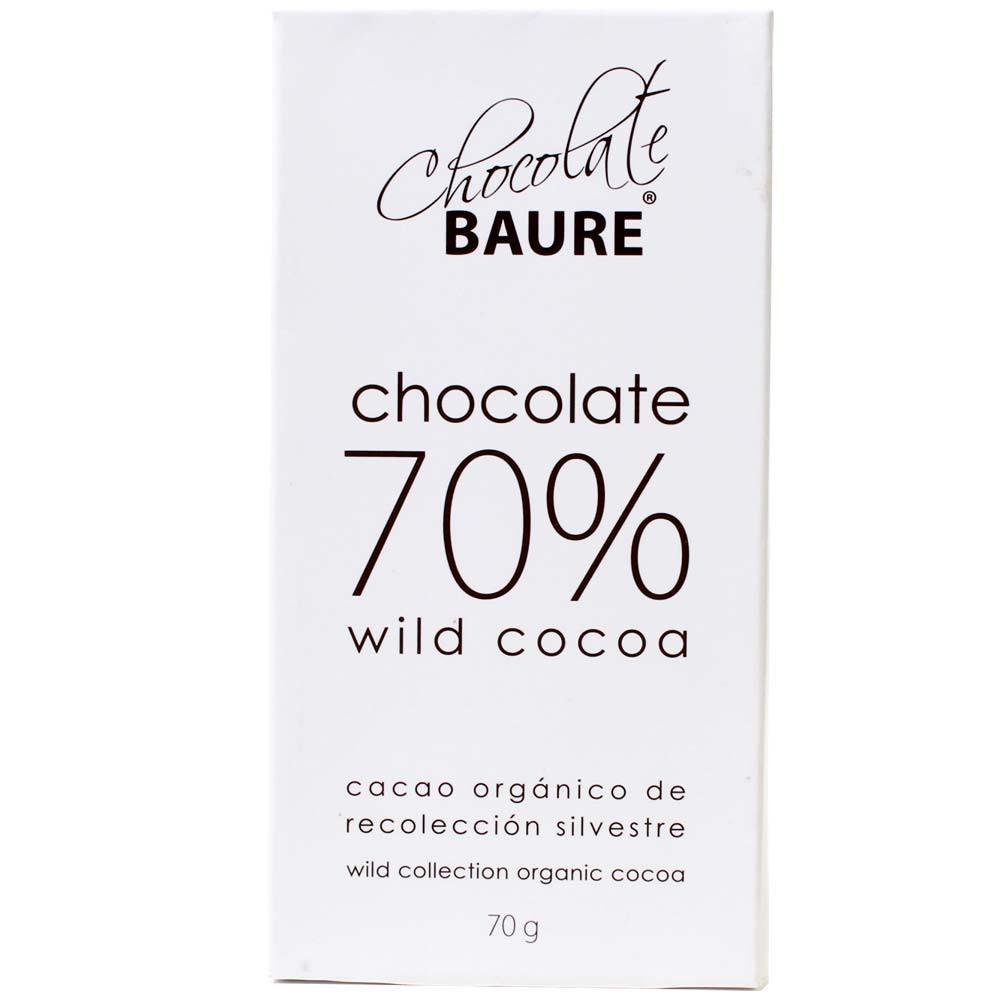 70% chocolate de cacao silvestre - Barras de chocolate, Bolivia, chocolate boliviano, Chocolate con azúcar - Chocolats-De-Luxe