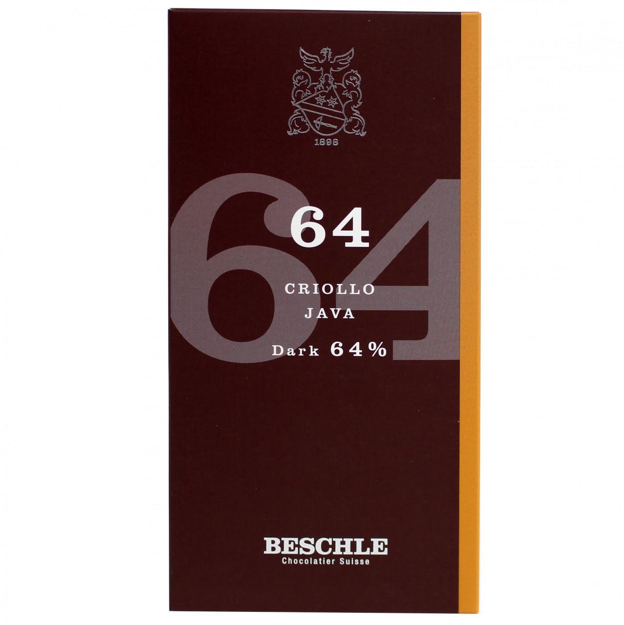 Beschle, Schweizer Schokolade, Grand Cru, Schokolade dunkel, Java, dark chocolate, chocolat noir, Criollo, Cocoa                                                                                         -  - Chocolats-De-Luxe