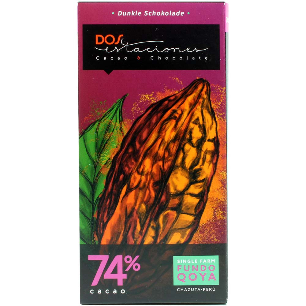 74% Cacao Fundo Qoya Chazuta Peru Single Farm ORGANIC chocolate