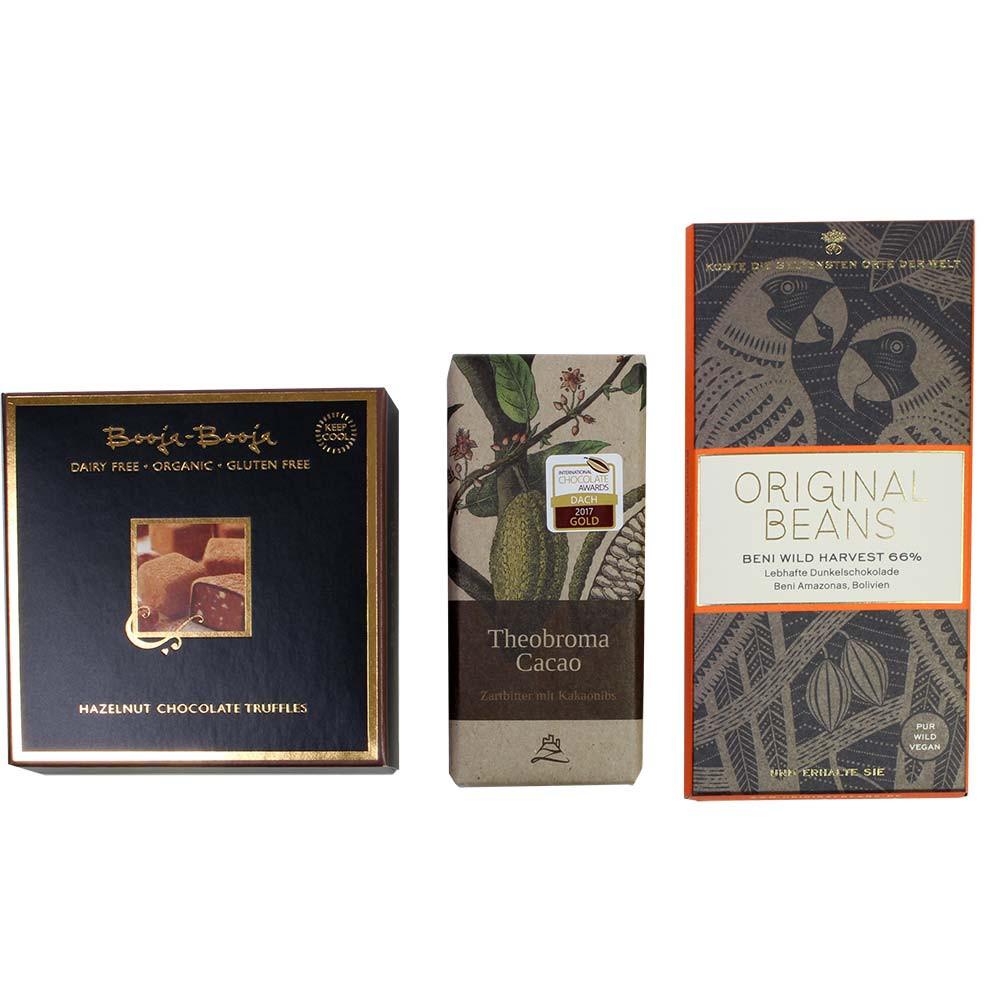 Vegan Paket No 2 mit Pralinen -  - Chocolats-De-Luxe
