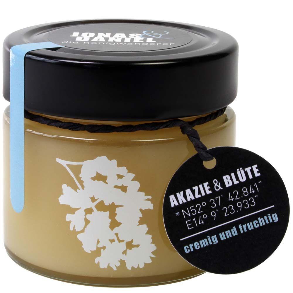 Acacia honey with blossom organic creamy and fruity 250g jar -  - Chocolats-De-Luxe