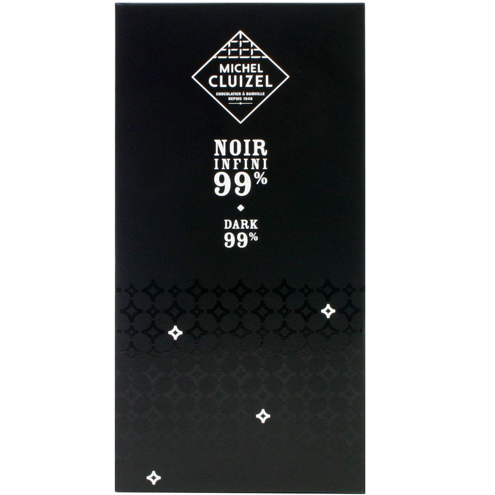 Bitterschokolade, 99% chocolat noir, dark chocolate, France, Michel Cluizel, Frankreich, Sojalecithinfrei,                                                                                               - Bar of Chocolate, soy free chocolate, vegan-friendly, without artificial flavourings / additives, France, french chocolate, Chocolate with spices - Chocolats-De-Luxe