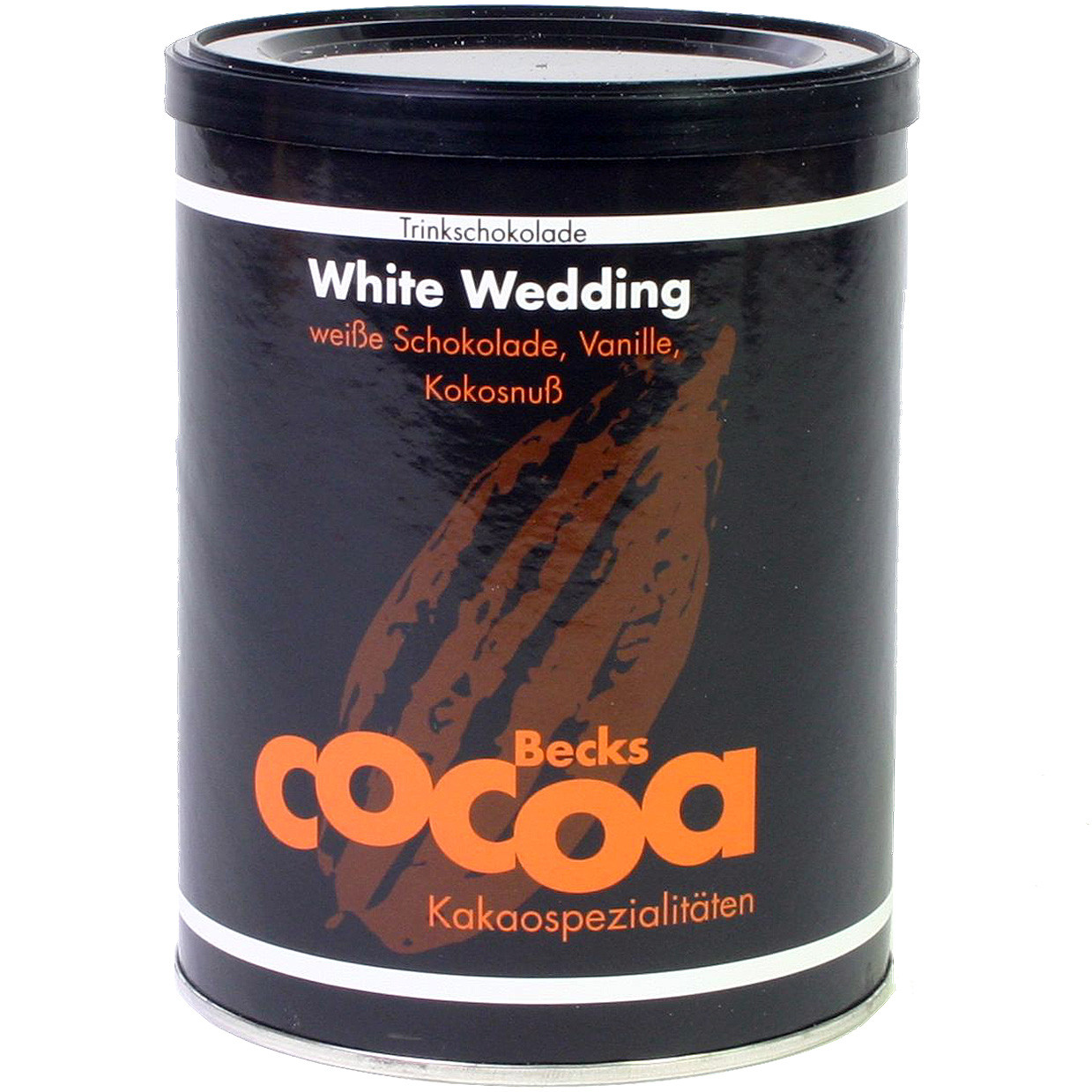 Becks Cocoa, White Wedding, Trinkschokolade mit Kokosnuss, Vanille, Trinkschokolade - Hot Chocolate, gluten free chocolate, Germany, german chocolate, Chocolate with coconut - Chocolats-De-Luxe