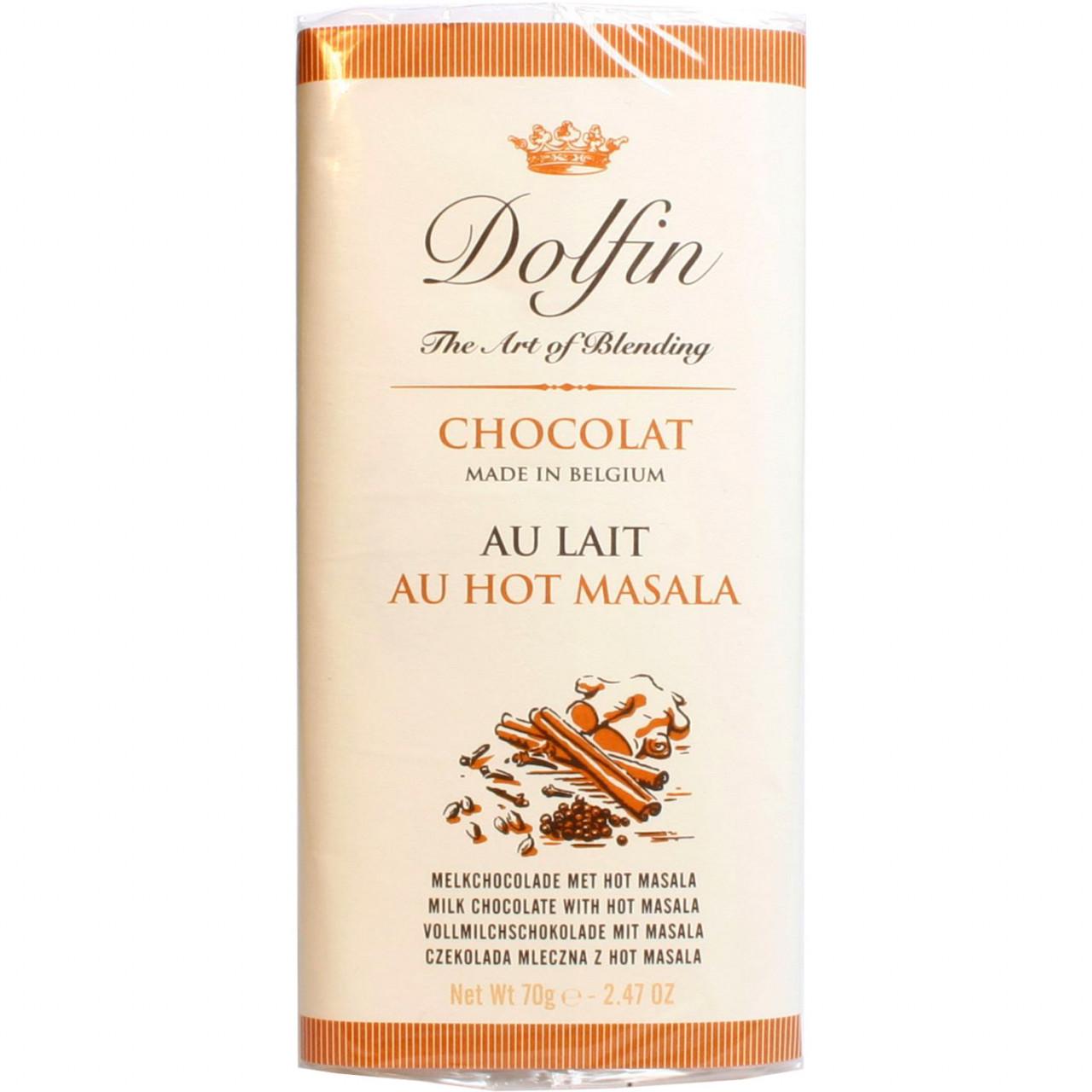 Dolfin, belgische Schokolade, Vollmilchschokolade mit Hot Masala, milk chocolate, chocolat au lait                                                                                                       - Barras de chocolate, Bélgica, belga Chocolate, Chocolate con especias - Chocolats-De-Luxe