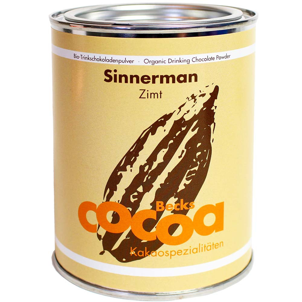 Sinnerman - chocolate para beber con canela de Java - chocolate caliente, chocolate sin gluten, chocolate vegano, Alemania, chocolate alemán, Chocolate con azúcar - Chocolats-De-Luxe