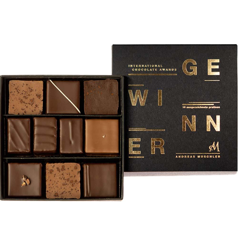 Unsere Gewinner Pralinenbox No. 10 - Pralines, Chocolat sans alcool, Allemagne, chocolat allemand - Chocolats-De-Luxe