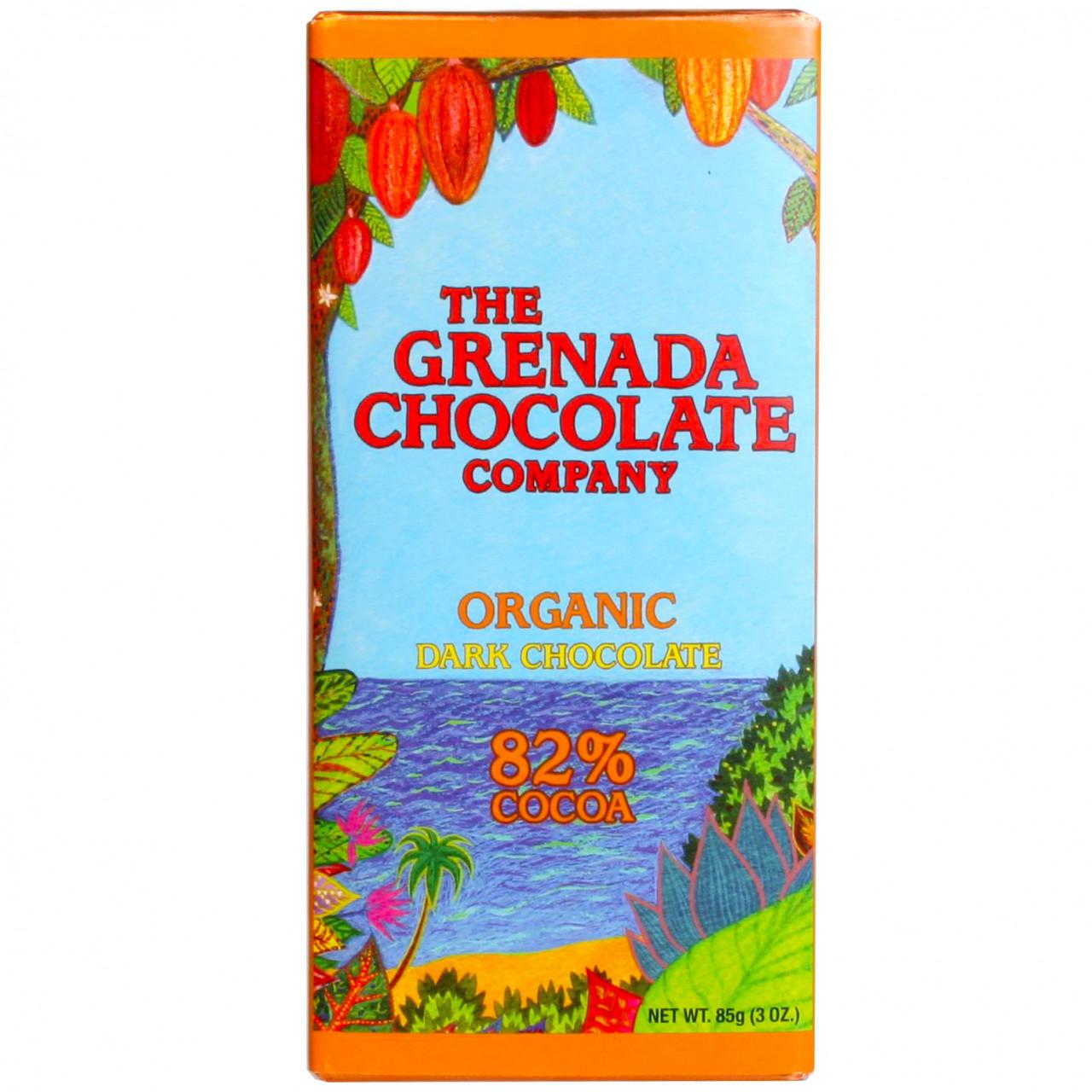 Grenada Chocolate, Bio Schokolade, Organic Chocolate, Dunkle Schokolade, Edelbitterschokolade, Schokolade von Grenada, Nussfreie Schokolade, Organic Chocolate, dark chocolate, chocolat noir, Grenada C - Bar of Chocolate, nut free chocolate, Grenada, Grenadian chocolate - Chocolats-De-Luxe