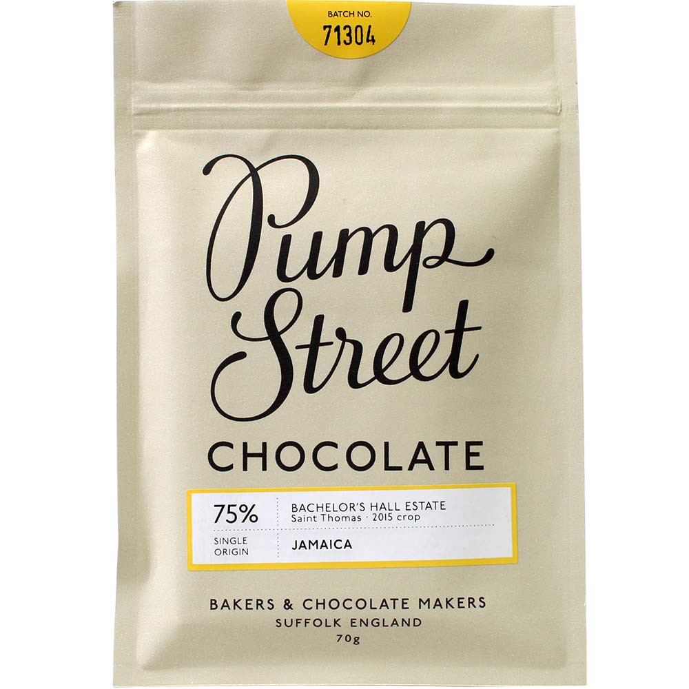 Pump Street Chocolate, Pump Street Bakery, Schokolade aus Jamaika, 75% Schokolade, Bachelor's Hallo Estate, Jamaica, Saint Thomas,