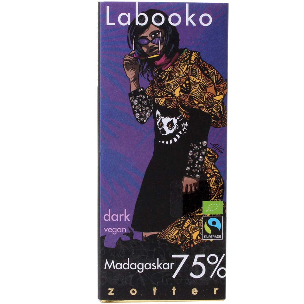 Labooko 75% Madagascar BIO cioccolato e vegan