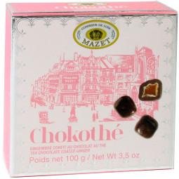 Chokothé Ingwer in Teestaub und dunkler Schokolade