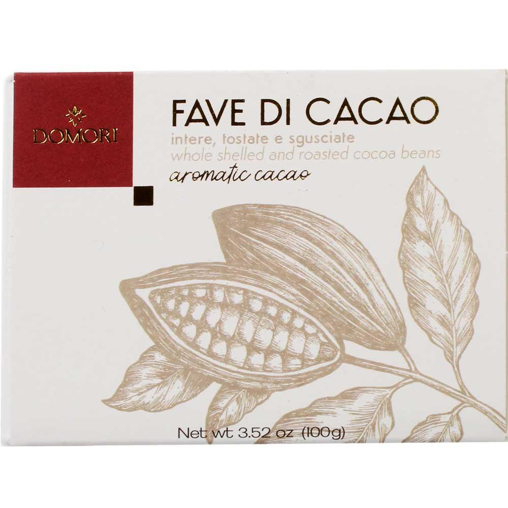 Fave di Cacao - Kakaobohnen nur geröstet - Kakaobohnen, glutenfrei, laktosefrei, zuckerfrei, ohne Zuckerzusatz, Italien, italienische Schokolade, pure Schokolade - Chocolats-De-Luxe