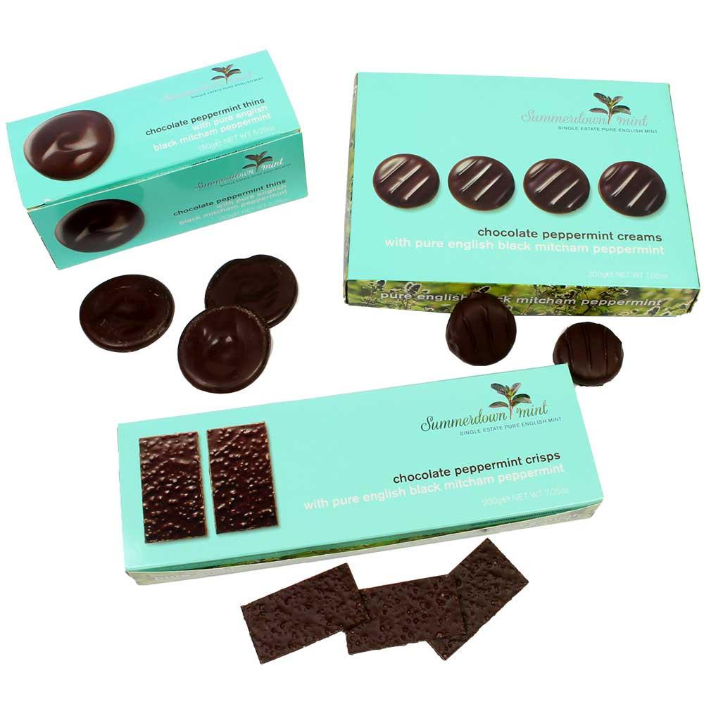Chocolate Festival Tasting Set - 3 mint chocolates - England, english chocolate - Chocolats-De-Luxe