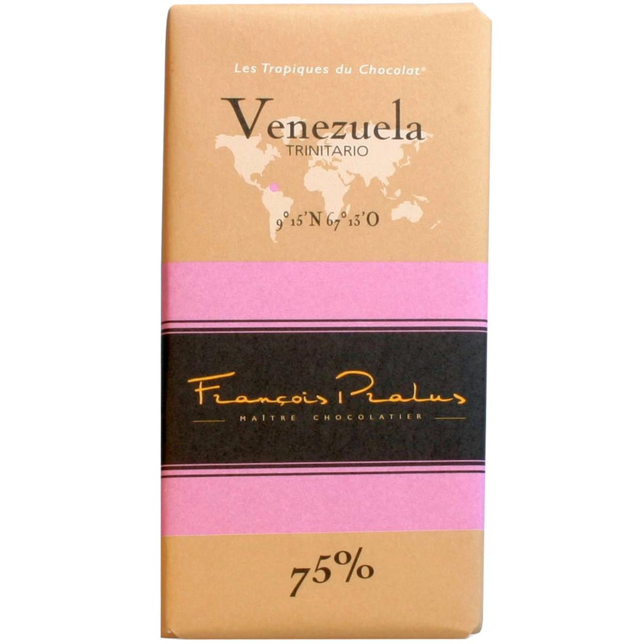 Dunkle Schokolade, 75%, Venezuela, Trinitario, chocolat noir, dark chocolate, Herkunftsschokolade, bean to bar,