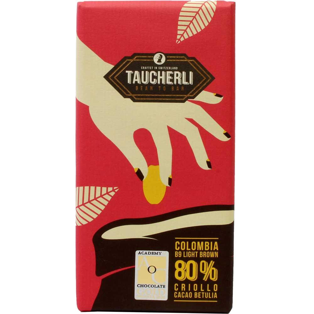 Colombia 80% Betulia B9 Pure Criollo - pure chocolade - Chocoladerepen, lactosevrij, veganistvriendelijk, Zwitserland, Zwitserse chocolade, pure chocolade zonder ingrediënten - Chocolats-De-Luxe