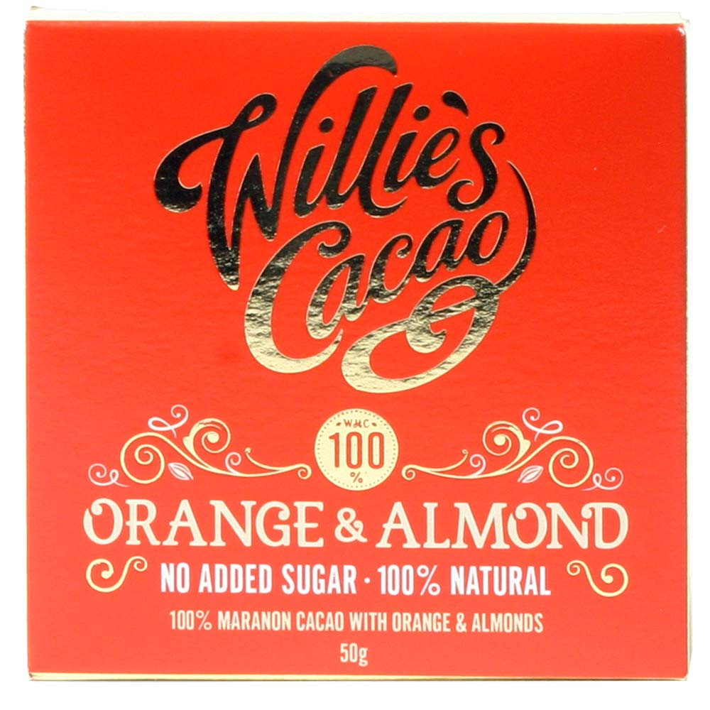 100% chocolate Orange & Almond - with orange and almonds - $seoKeywords- Chocolats-De-Luxe
