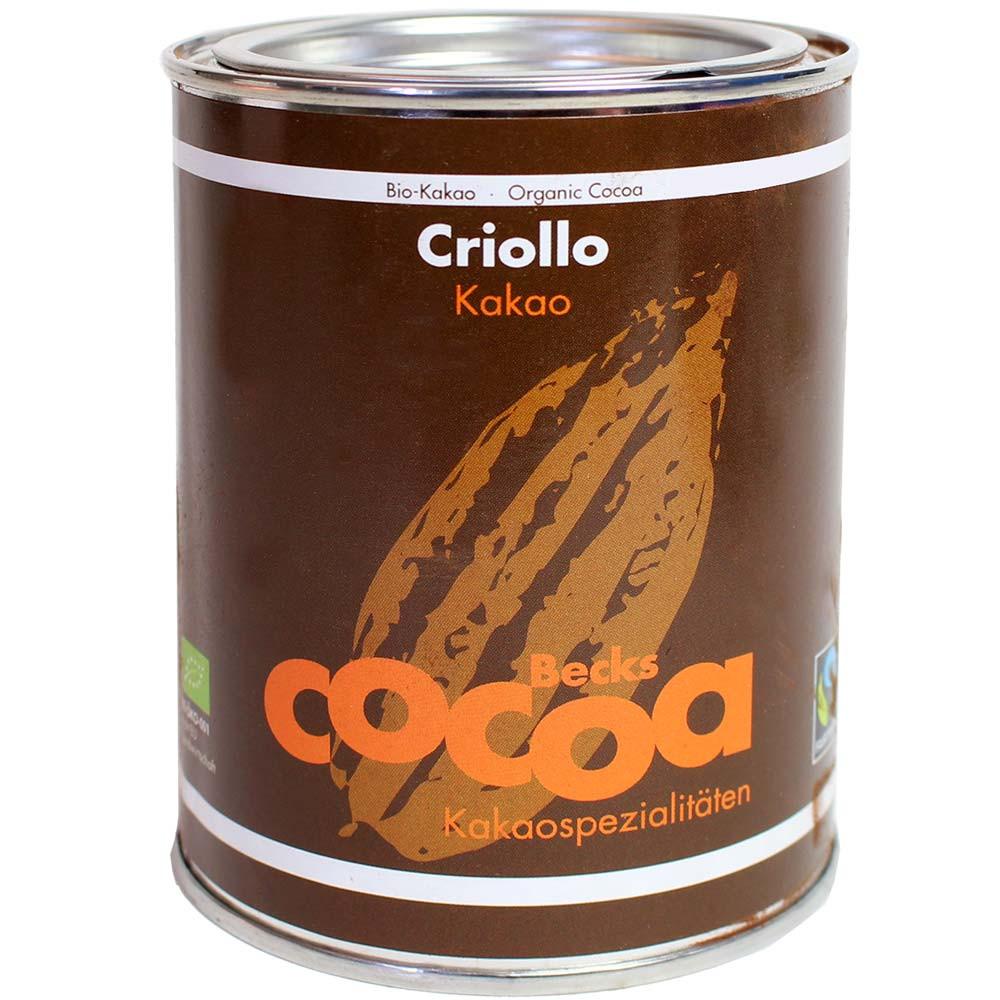 Cacao criollo 100% puro - 100% de cacao, chocolate caliente, chocolate sin azúcar, chocolate sin azúcar añadido, chocolate sin gluten, chocolate vegano, Alemania, chocolate alemán - Chocolats-De-Luxe