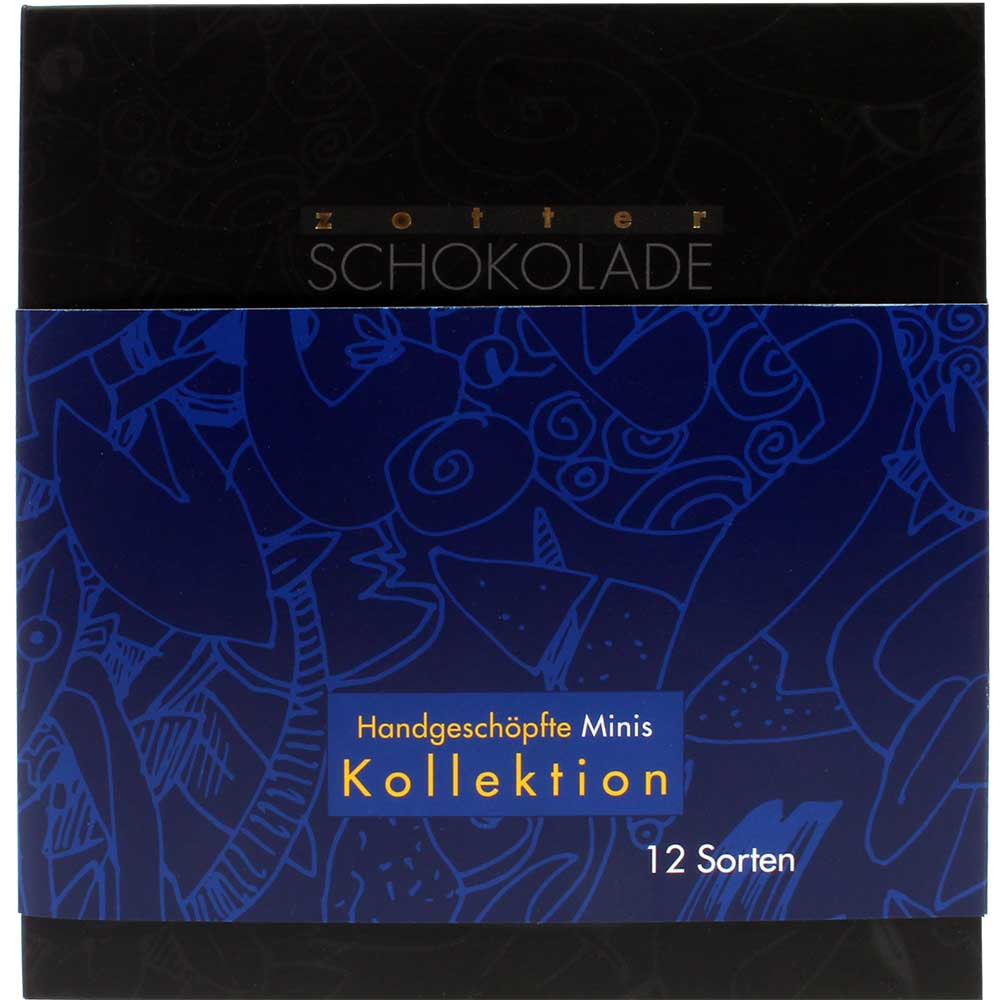 Mini bar collection with 12 different chocolates - Bar of Chocolate, gluten free, with alcohol, Austria, austrian chocolate, Chocolate with alcohol - Chocolats-De-Luxe
