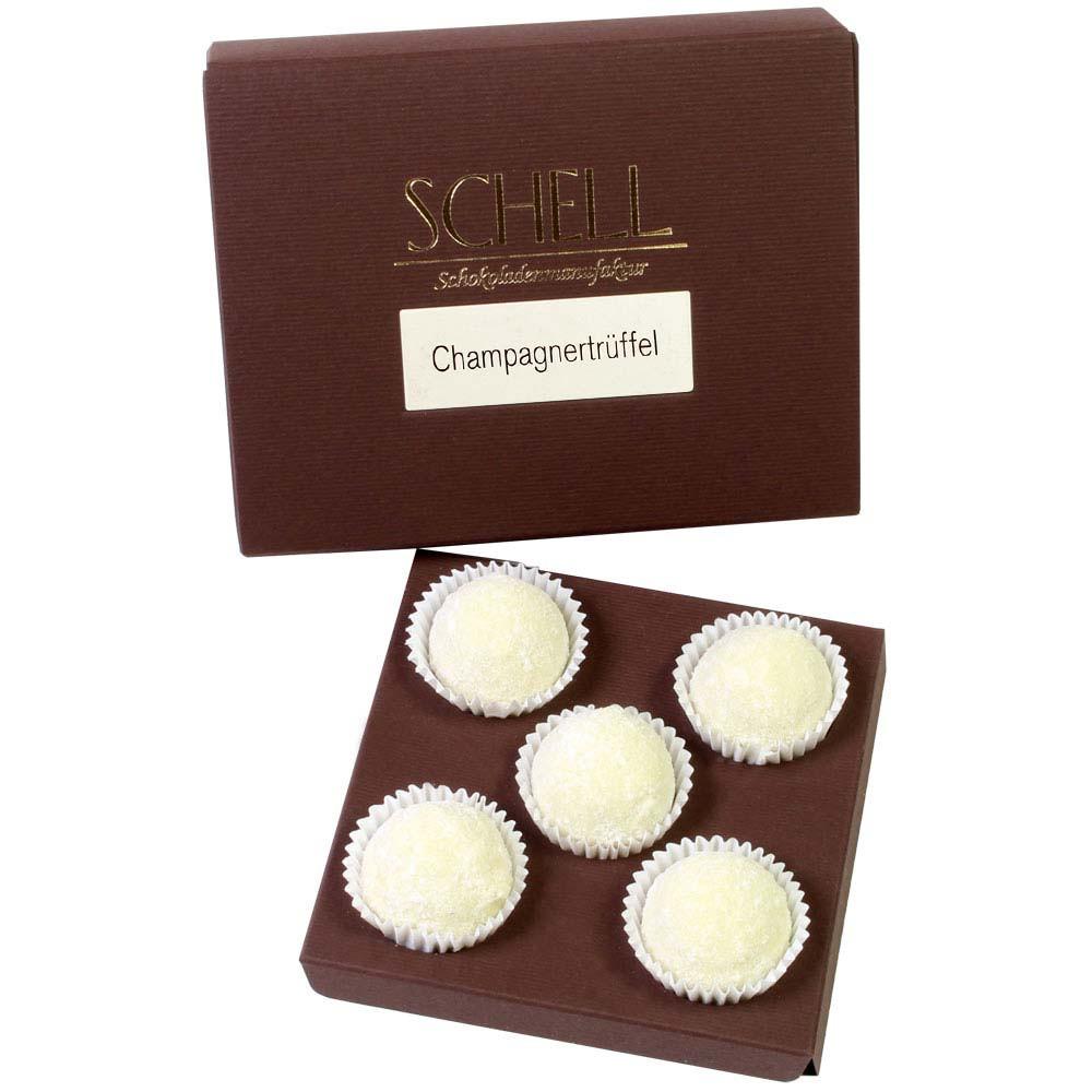 Tartufi di Champagne in cioccolato fondente - 5 pezzi
