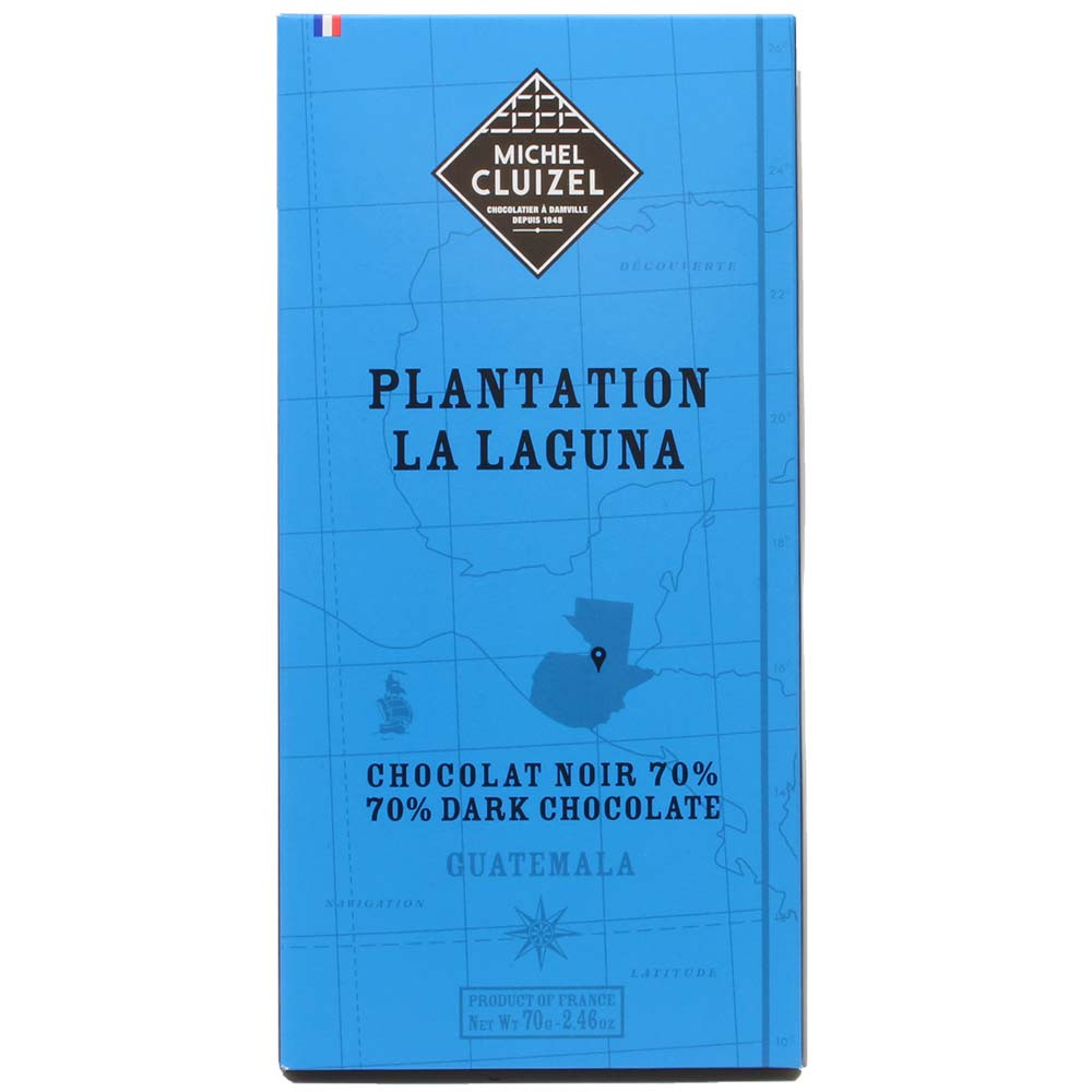 Plantation La Laguna Guatemala Chocolat Noir cioccolato fondente 70% - Tavola di cioccolato, cioccolato senza lecitina, cioccolato senza soia, sans arômes artificiels / additifs, vegan-cordiale, Francia, cioccolato francese, cioccolato alla vaniglia - Chocolats-De-Luxe