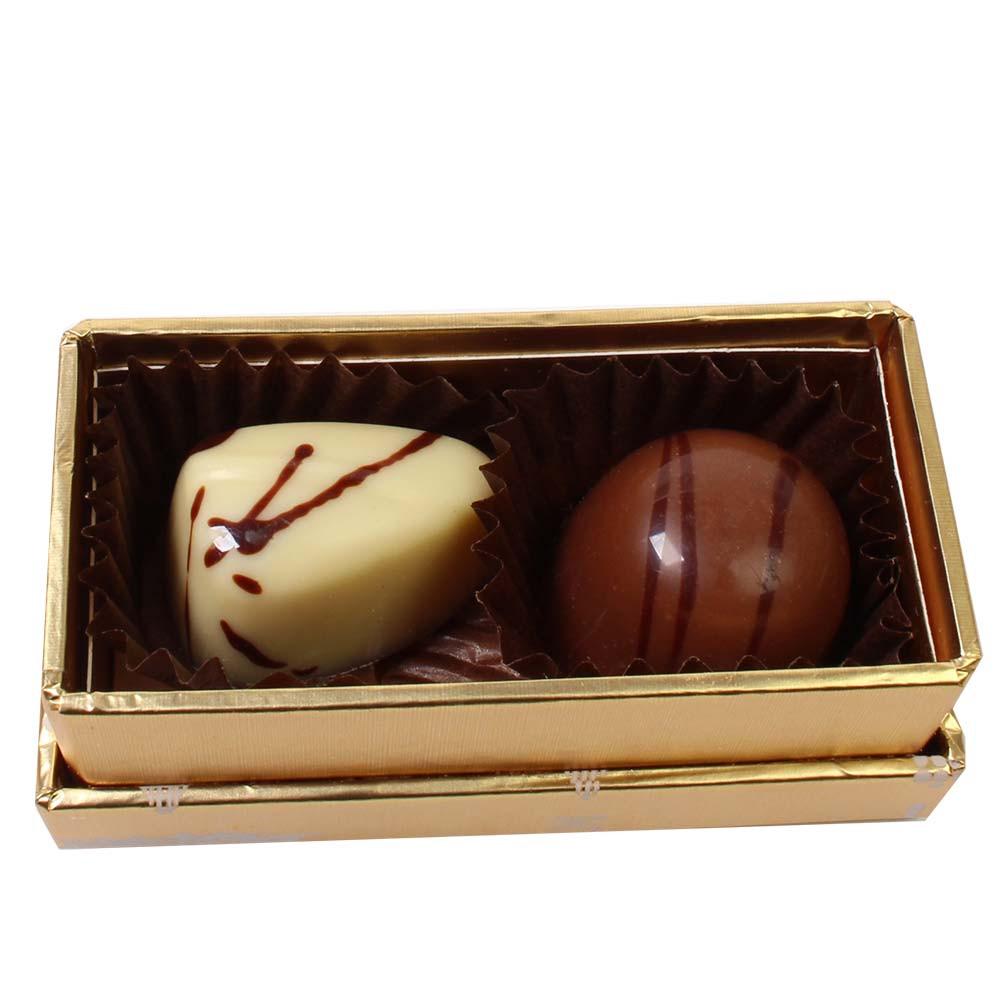 Kerstpralinebox Duetto met 2 pralines -  - Chocolats-De-Luxe