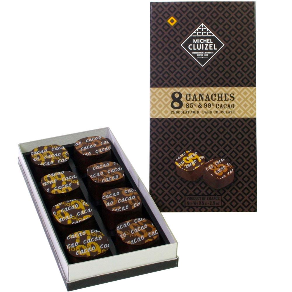 Michel Cluizel, Frankreich, Sojalecithinfrei, Pralinenset dark chocolate chocolat noir France                                                                                                            - Bombones, Francia, chocolate francés - Chocolats-De-Luxe