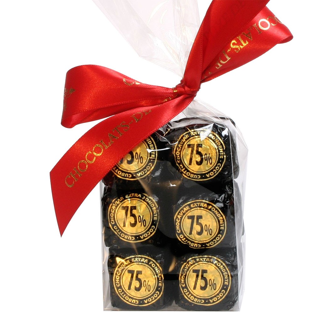Venchi, Italien, Kaviar aus Schokolade, Geschenkidee, dunkle Schokolade, Praline, dark chocolate, chocolat noir - Cioccolatini, Cioccolato senza alcol, cioccolato senza glutine, Italia, cioccolato italiano - Chocolats-De-Luxe