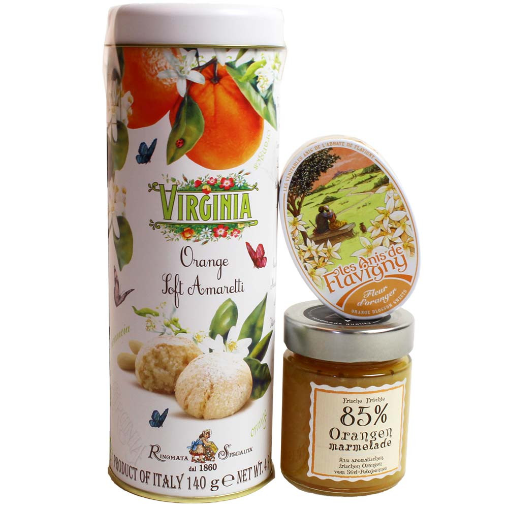Set regalo per gli amanti dell'arancia -  - Chocolats-De-Luxe