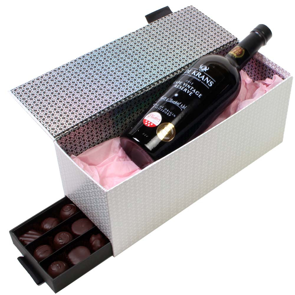Miss Sophies Secret gift set - dessert wine and chocolates - Pralines, Germany, german chocolate - Chocolats-De-Luxe