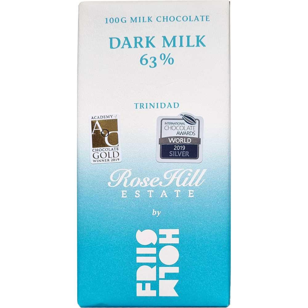 Donkere Melk 63% - Chocoladerepen, glutenvrij, lecithinevrij, Denemarken, Deense chocolade, chocolade met melk, melkchocolade - Chocolats-De-Luxe