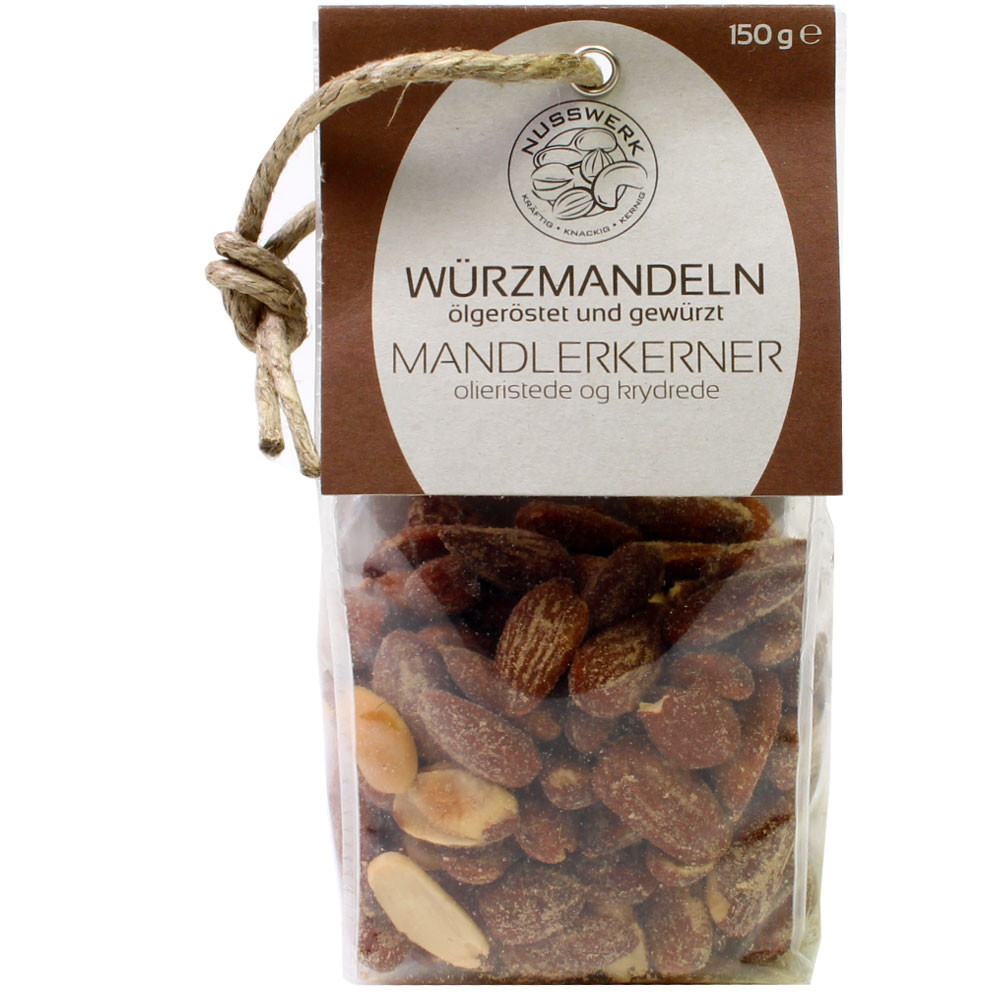 Mandeln geröstet, Nuss Snack, Mandeln Nährwerte, Mandeln Kalorien, Mandeln kaufen -  - Chocolats-De-Luxe