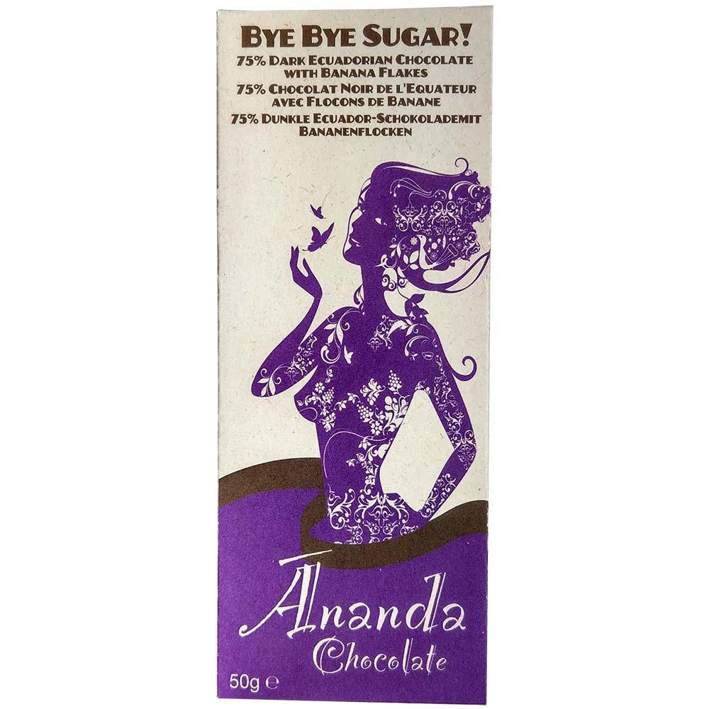 70% de sucre Bye Bye avec des flocons de banane bio - $seoKeywords- Chocolats-De-Luxe