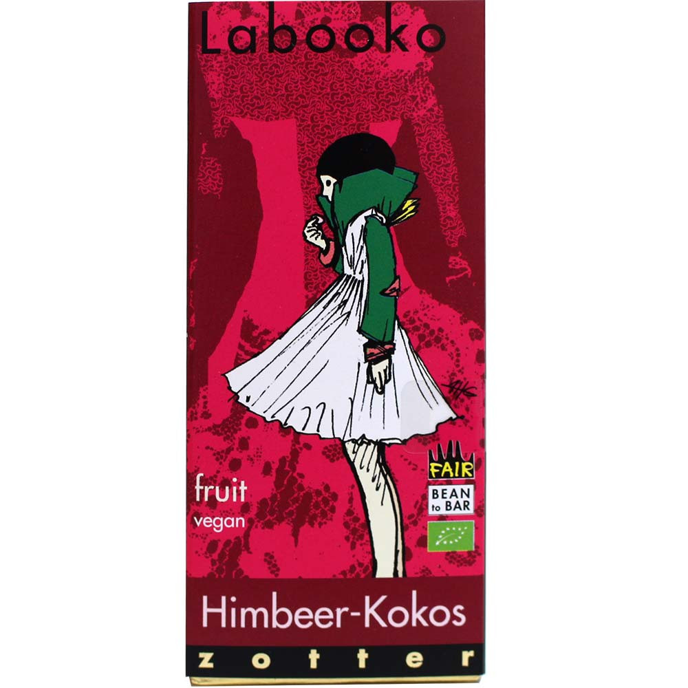 Labooko raspberry coconut - organic chocolate
