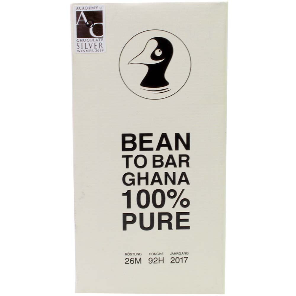 Ghana 100% Pure Bean-to-Bar dunkle Schokolade