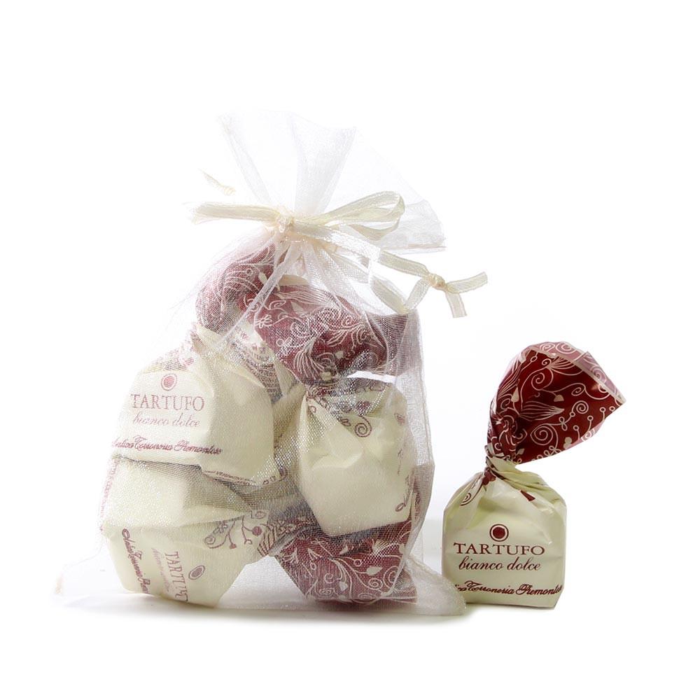 Tartufi, weisse Schokolade, Haselnuss - Truffe, Italie, chocolat italien, Chocolat à la noisette - Chocolats-De-Luxe