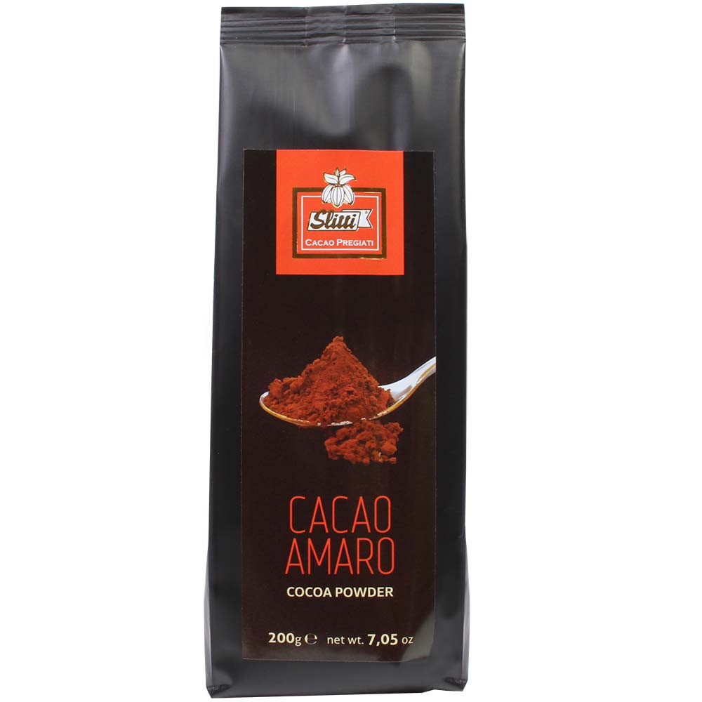 Polvo de cacao Amaro 100% Cacao en polvo - 100% de cacao, chocolate caliente, chocolate sin azúcar, chocolate sin azúcar añadido, chocolate sin gluten, chocolate sin lecitina, vegan-amigable, Italia, chocolate italiano - Chocolats-De-Luxe