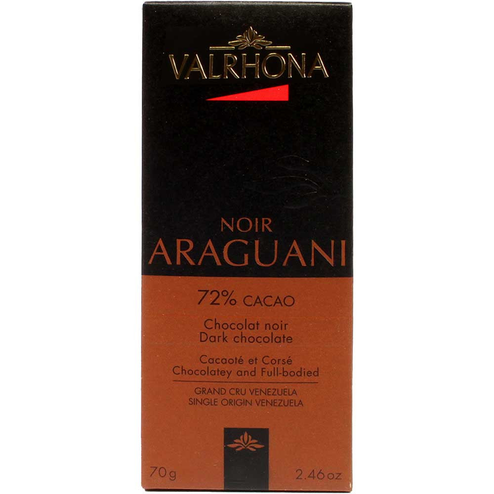 Araguani 72% dunkle Schokolade - Bar of Chocolate, France, french chocolate, Chocolate with sugar - Chocolats-De-Luxe